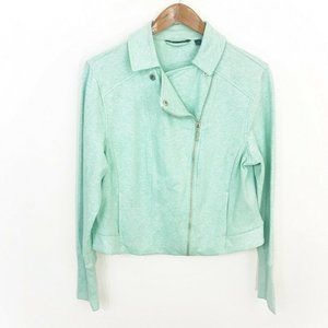 h by halston french terry moto jacket